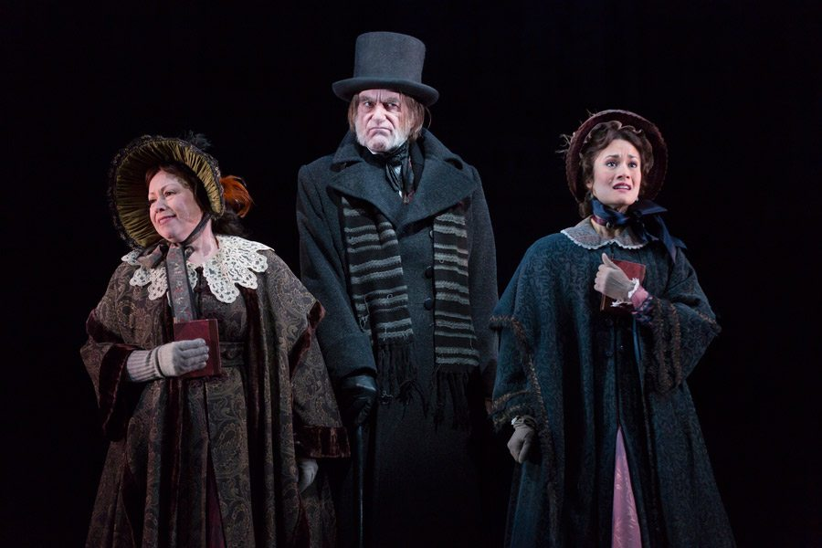 "As Mary Bonds in McCarter Theatre's ""A Christmas Carol"" with Michele Tauber and Graeme Malcolm. Photo by T. Charles Erickson"