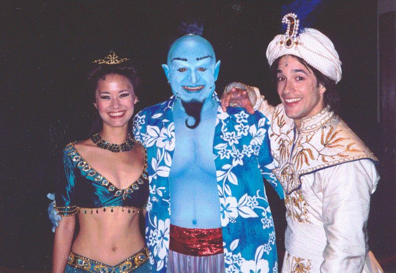 Backstage at Aladdin with Barry Pearl and Omar D. Brancato