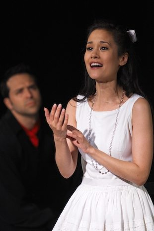 "As Luisa in ""The Fantasticks"" Off-Broadway"