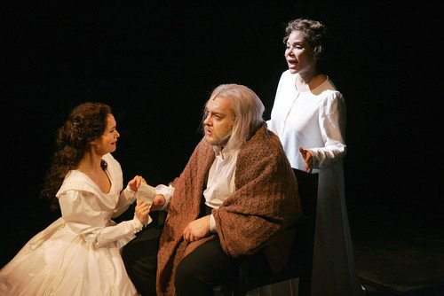 With Alex Gemignani and Daphne Rubin-Vega in Les Mis