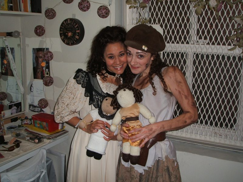 With Megan McGinnis (Eponine) and our matching dolls