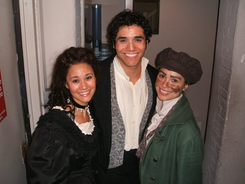 With Lea Salonga (Fantine) and Adam Jacobs (Marius) at Les Mis