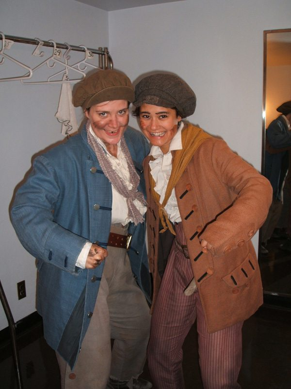 "On the tour of Les Mis as a ""bullet boy"" in the ensemble with Dawn Reilly"