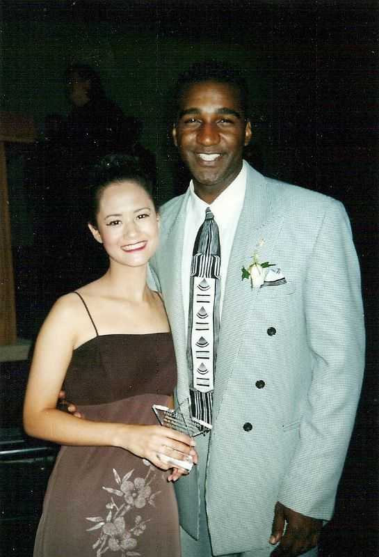 Winning a high school musical theater award for The King and I, presented by Norm Lewis